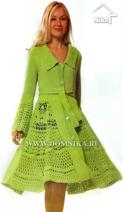 Для вязания женского пальто вам потребуется: 1350 г цвета антрацита пряжи T
