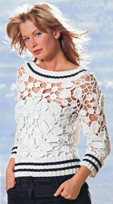 Связать свитер красивый 7