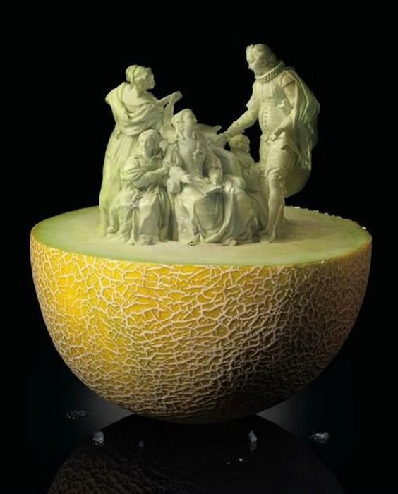 Креативнsй карвинг из овощей и фруктов8 (564x700, 66Kb)
