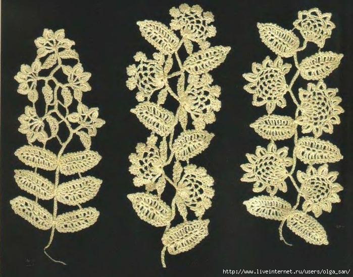 """爱尔兰花边:""""叶和花串的图案"""" - maomao - 我随心动"""