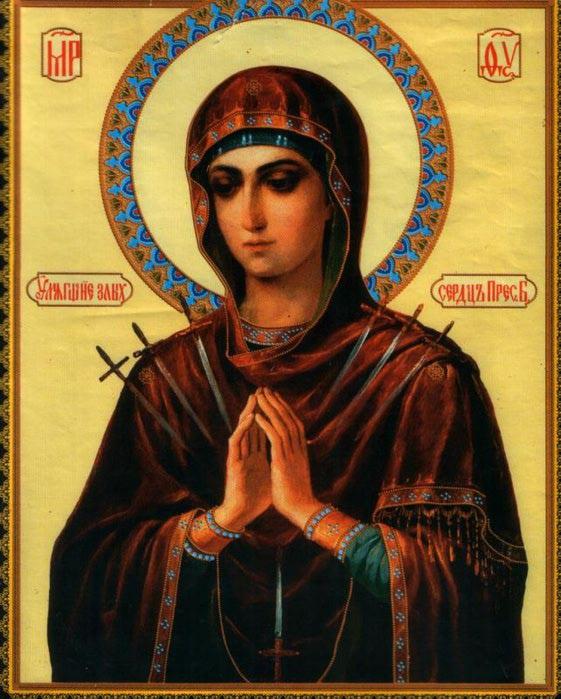 ...для описания умных сил, не имеющих образа...  Икона Божией Матери...