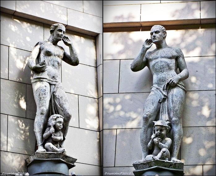 Дюссельдорф, монументальные детали старого фасада (30-е годы)