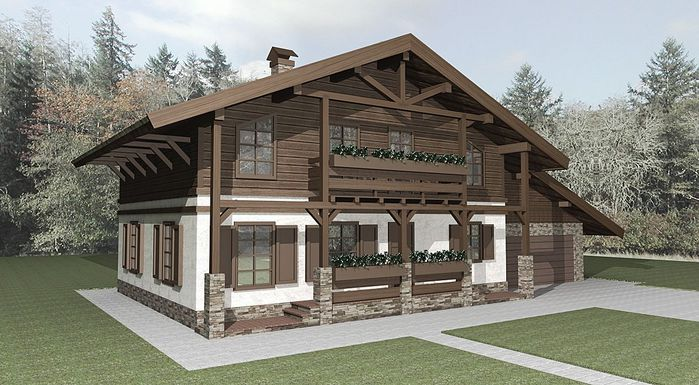 Дизайны домов шале