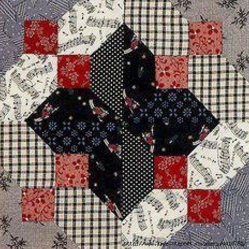 Эти яркие схемы пэчворк можно использовать для любого вида изделия - одеяла, подушки, панно или салфетки.