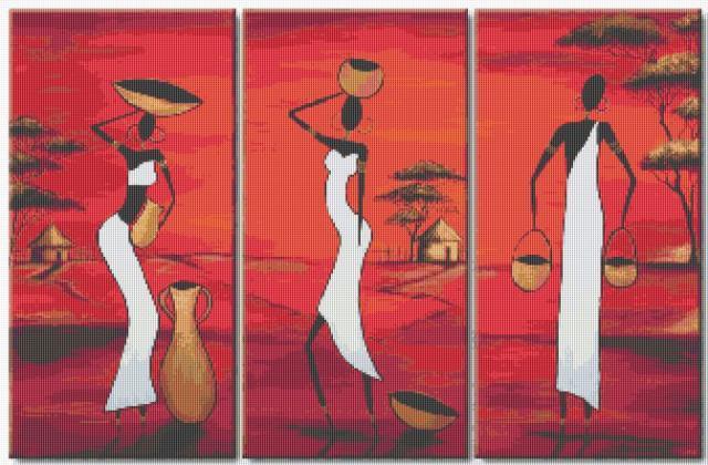 триптих вышивка крестом схемы