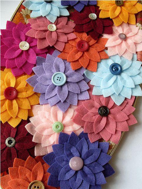 Цветы из фетра. Обсуждение на LiveInternet - Российский Сервис Онлайн-Дневников