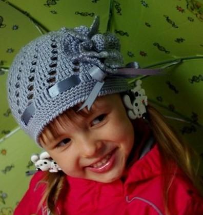 Детская ажурная шапочка с ленточкой и цветком,связанным крючком/4683827_20120615_132026 (396x419, 41Kb)