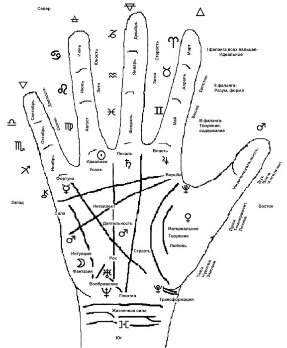 Хиромантия знаки на руке фото