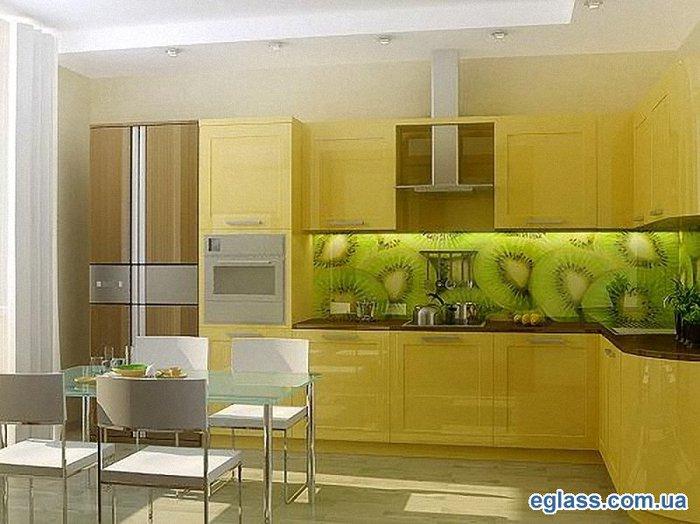 Фотофартук для кухни можно сделать как одну большую панель (до 1,8 м в