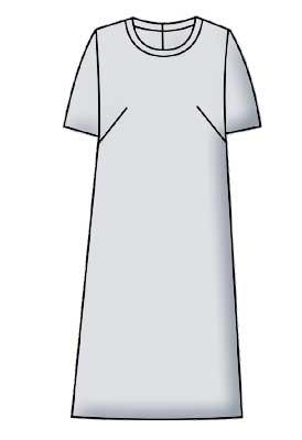 Выкройка для просто прямого платья