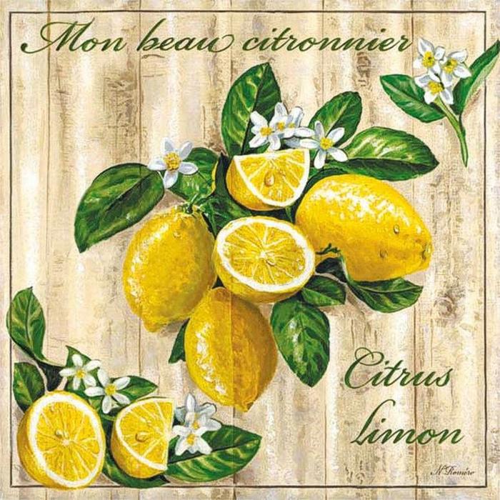 """Оригинал схемы вышивки  """"лимон """" ."""