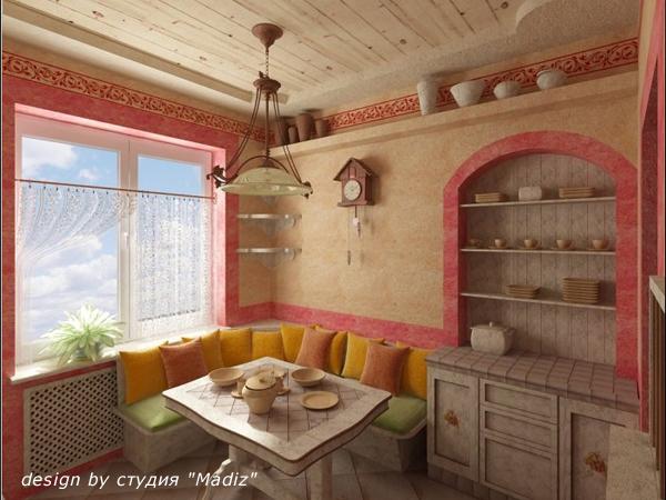 Интерьер кухни ниши