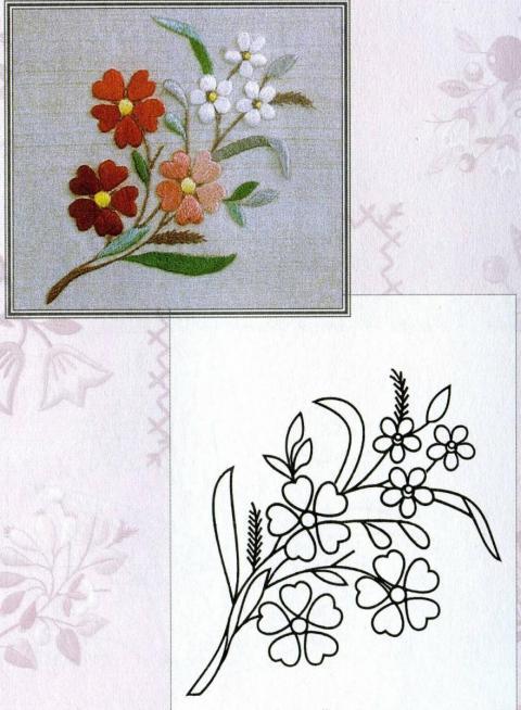 Картинки для вышивки гладью цветы 4