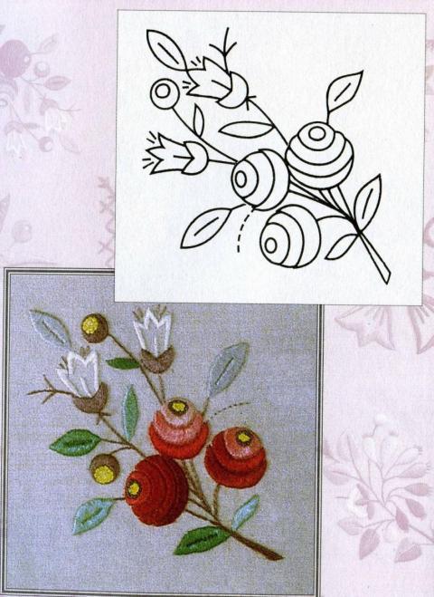 Картинки для вышивки гладью цветы 5