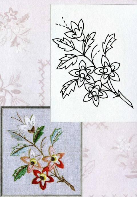 Картинки цветов для вышивки гладью 4