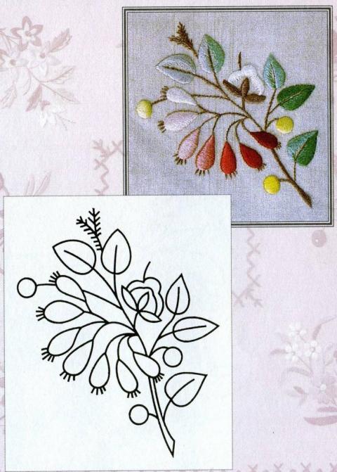 Картинки для вышивки гладью цветы 2