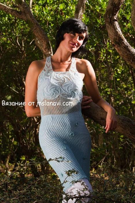 Вязаное-платье-Голубая-волна1 (267x500, 131Kb)