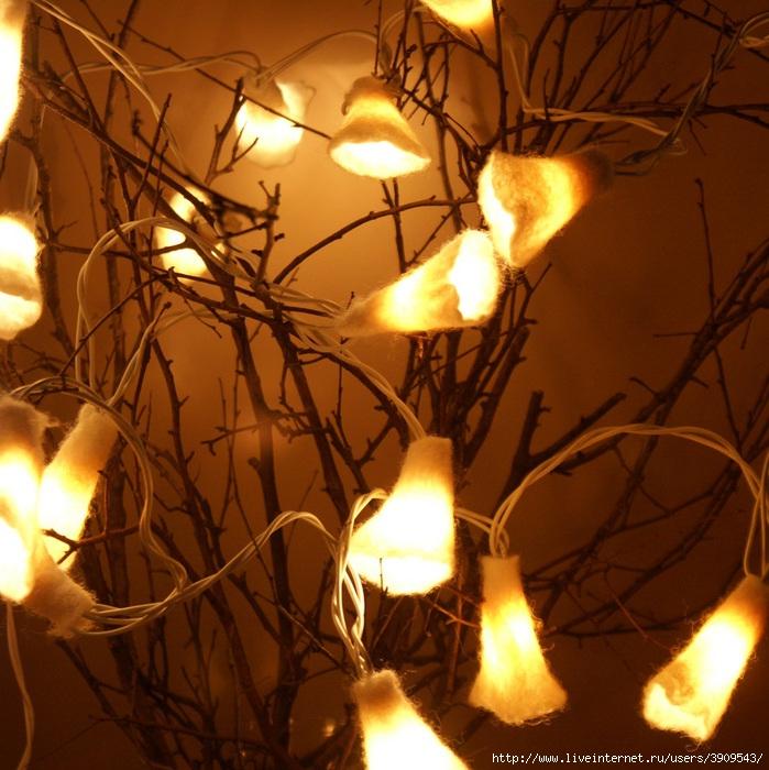 Гирлянды лампочки своими руками