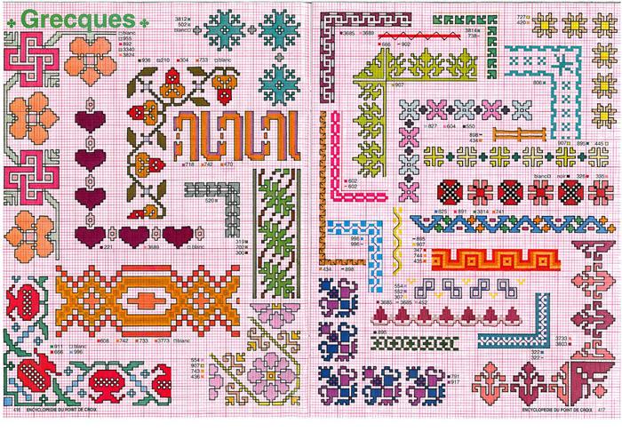 Схемы рамок для вышивки крестиком