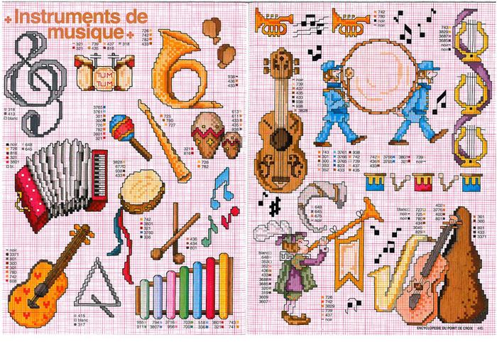 Музыкальная в вышивке схемы 382