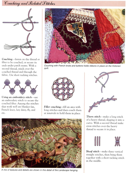 свой цитатник или сообщество!  The Magic of Crazy Quilting: A Complete Resource for Embellished Quilting.