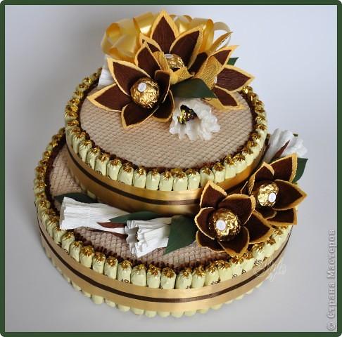 Тортик из конфет своими руками на день рождения