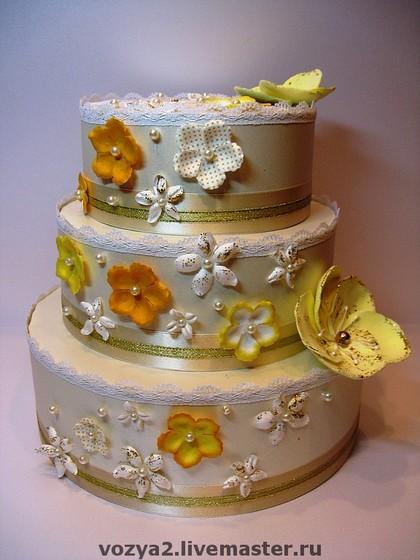 Свадебный торт для денег своими руками 39