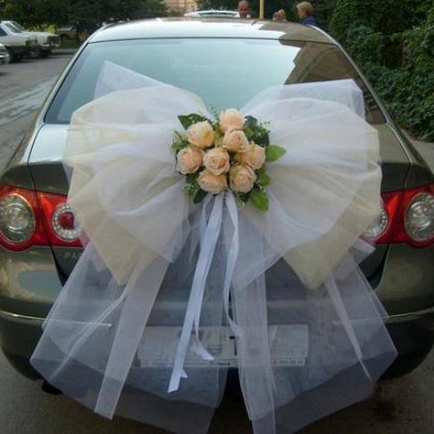 Украшения на свадебную машину мастер класс фото 20