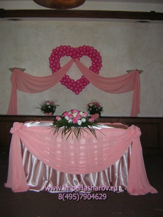 Украшение на свадьбу зала своими руками