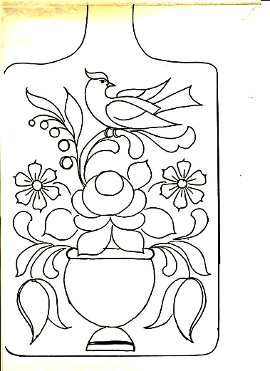 Разделочная доска с рисунком шаблон