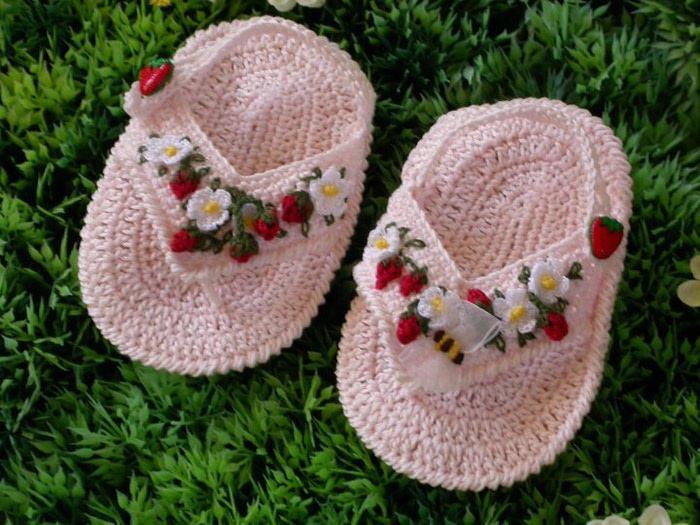 """钩针:""""可爱的婴儿鞋"""" - maomao - 我随心动"""