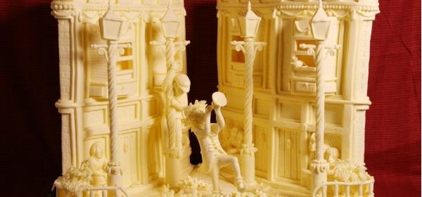 скульптуры из сливочного масла  6 (600x280, 110Kb)