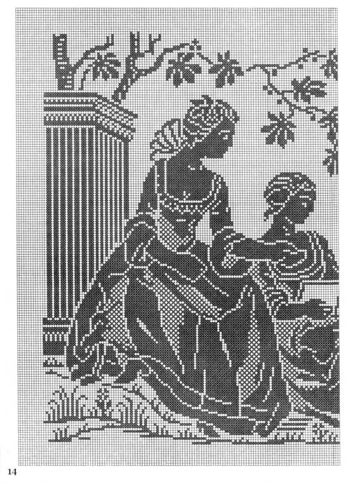 <филейное вязание - занавески