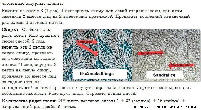 """Шаль """"Замерзшие листья"""""""