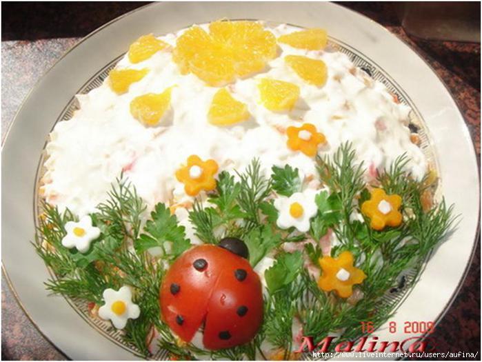 Украшение блюд фото салаты