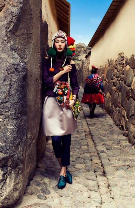 модная фотосессия в этническом стиле 5 (453x700, 269Kb)