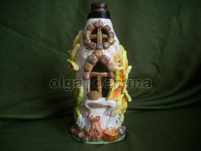 Бутылки из соленого теста своими руками