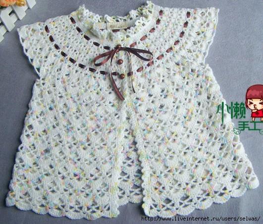 Платье-халатик на круглой кокетке для малышки связан крючком /4683827_20120630_153500_1_ (531x452, 196Kb)