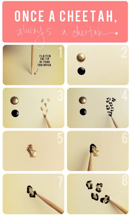 как нарисовать смайлики на ногтях: