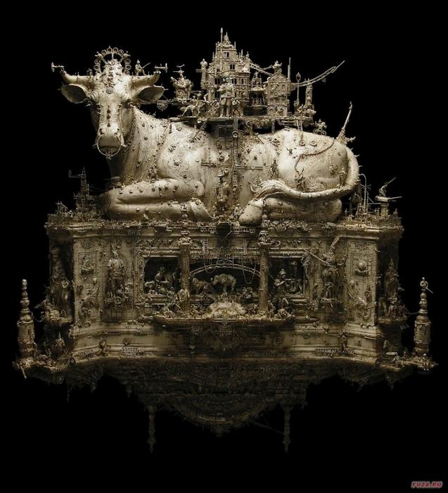 Kris Kuksi скульптуры 3 (637x700, 233Kb)