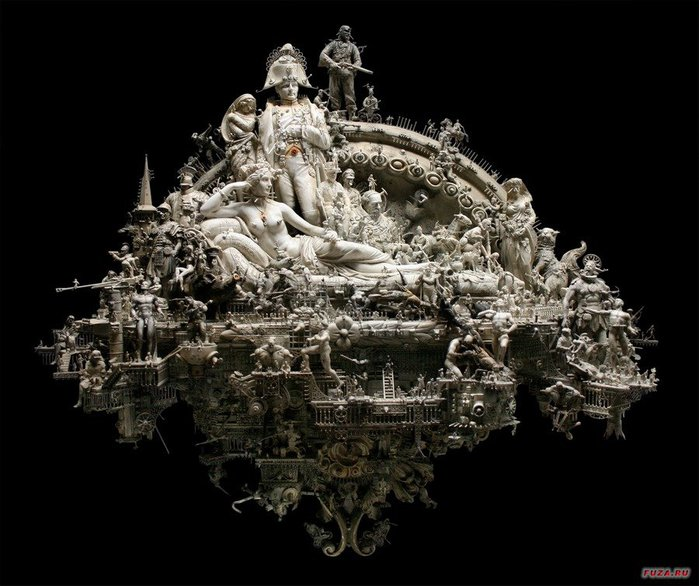 Kris Kuksi скульптуры 6 (700x586, 82Kb)