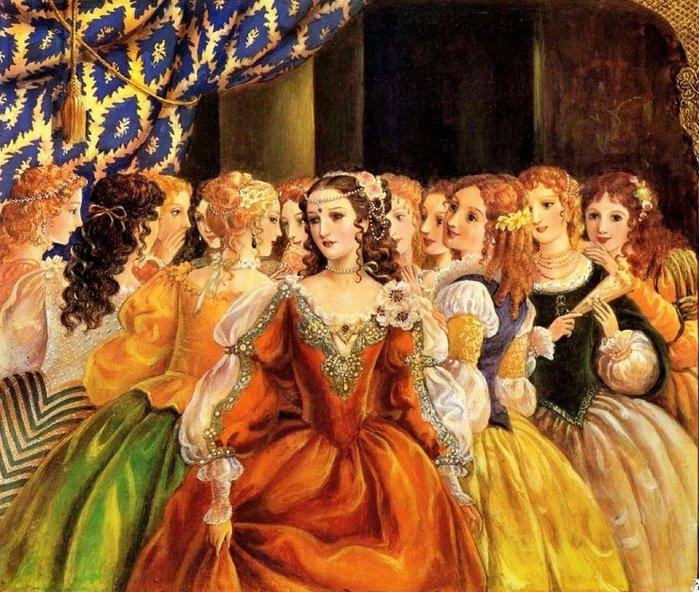12 танцующих принцесс (700x592, 127Kb)