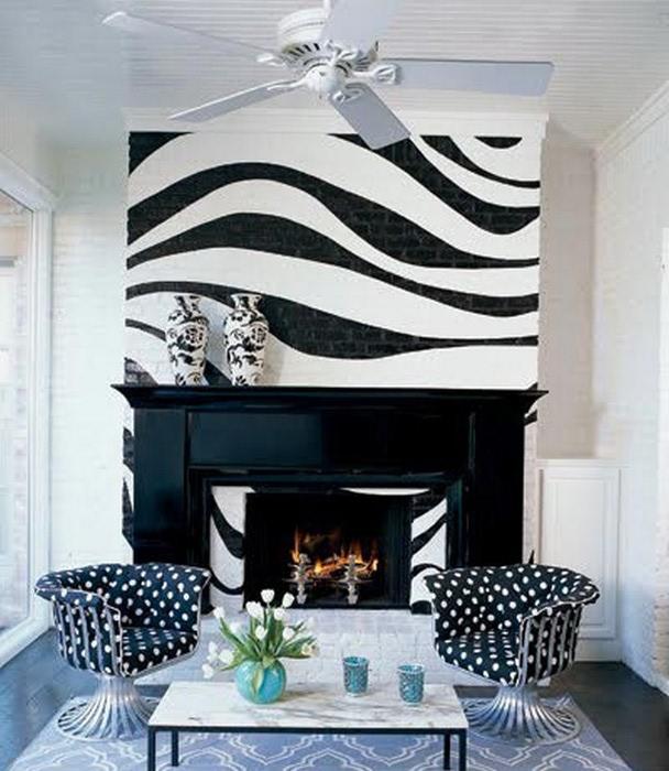 Черно-белый дизайн квартир 5 (608x700, 102Kb)