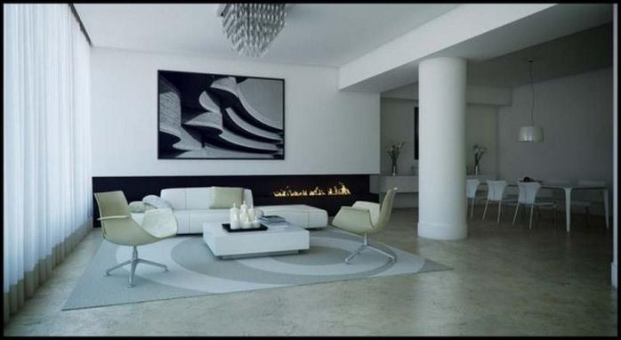 Черно-белый дизайн квартир 6 (700x382, 47Kb)