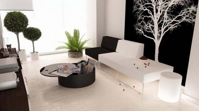 Черно-белый дизайн квартир 7 (700x392, 57Kb)