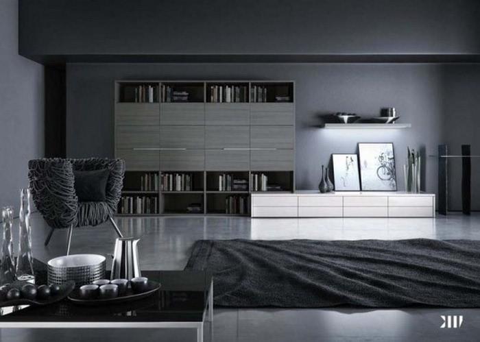 Черно-белый дизайн квартир 13 (700x499, 65Kb)
