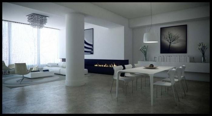 Черно-белый дизайн квартир 23 (700x385, 46Kb)