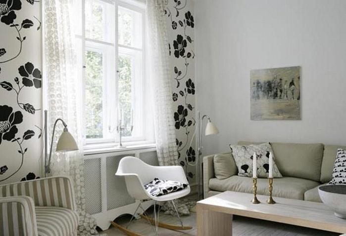 Черно-белый дизайн квартир 24 (700x478, 74Kb)