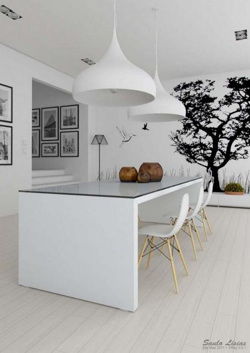 Черно-белый дизайн квартир 29 (495x700, 190Kb)