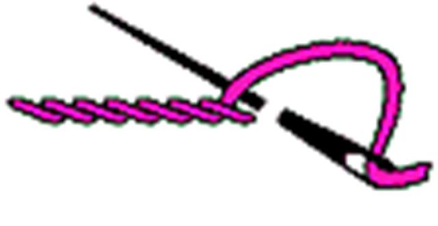 1) Стебельчатый шов